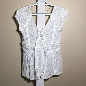 Free People white lace top